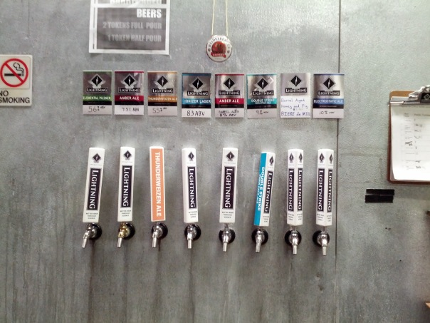 Lightning Brewery Taps.