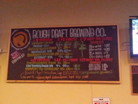 Rough Draft tap list.