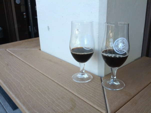 Devil's Share Victory at Sea (Left), Bourbon Barrel Aged Black Marlin Porter (right)