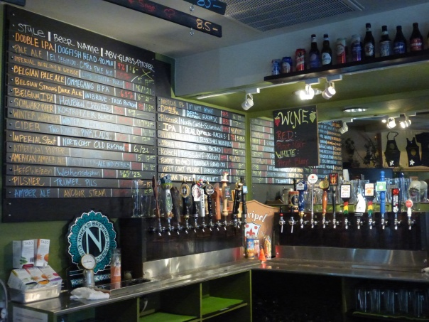 Taplist and taps, quite a large selection.
