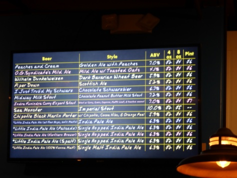 Ballast Point Little Italy Tap list part 2.