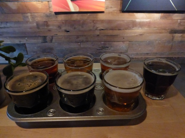 Flight of tasters.