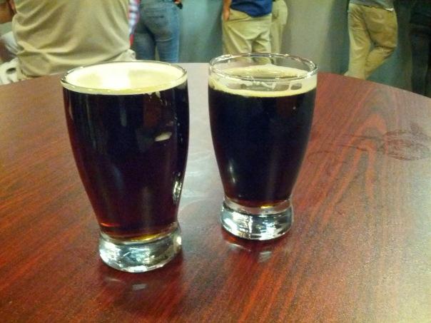 Cask Nut Brown (Left), Robust Porter (Right).