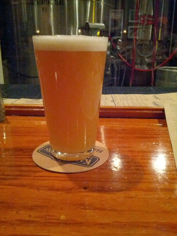 Pint of Mosaic Hop Session IPA on Cask.