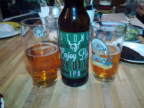 Stone Enjoy By IPA 2013.
