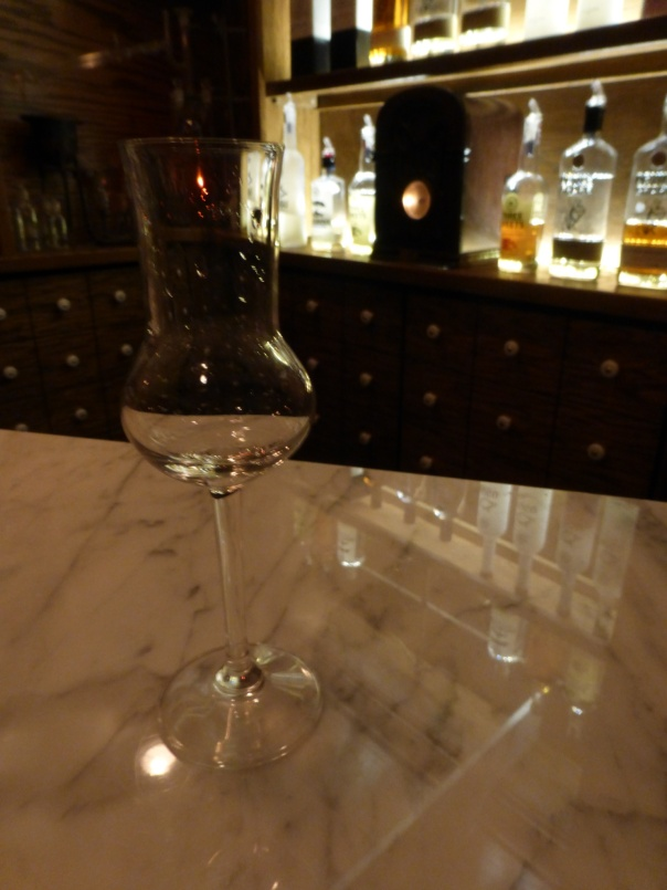 The unique taster glass used for the spirit tasting.